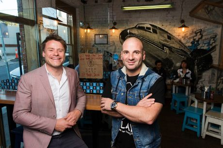 Radek Sali and George Calombaris at Fitzroy restaurant Jimmy Grants