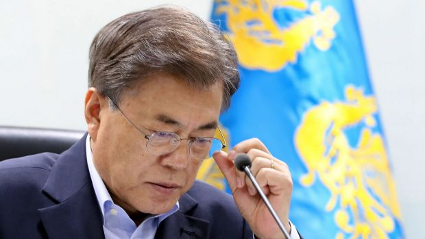 "South Korean President Moon Jae-in could support China's ""double suspension"" proposal."