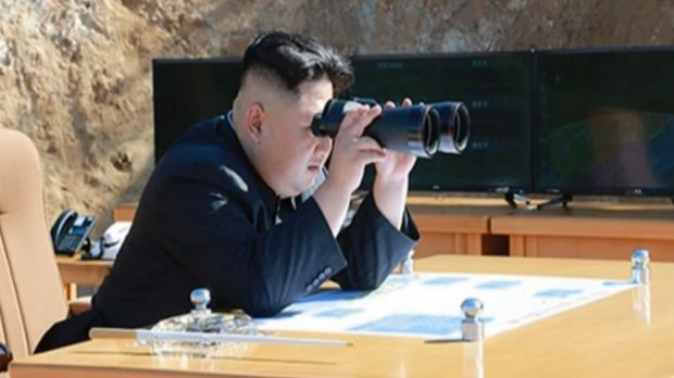 North Korea's KR shows what was said to be North Korean leader Kim Jong-un watching the launch of a Hwasong-14 ICBM.