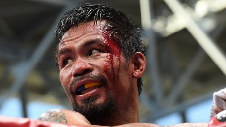 Manny Pacquiao at the July 2 Battle of Brisbane.