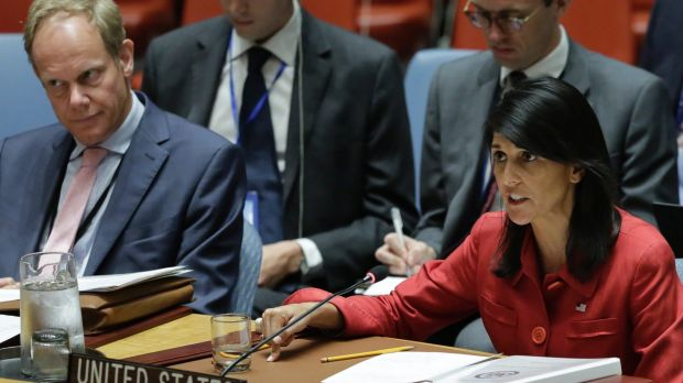 Nikki Haley the US Ambassador to the UN believes the time for talk is over