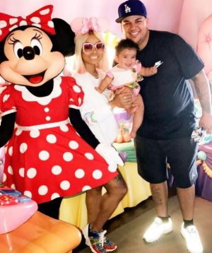Chyna, Kardashian and their daughter Dream at Disneyland for US Father's Day last month.