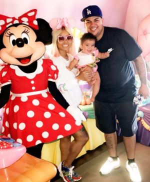 Blac Chyna shared this picture of the family together for US Father's Day.