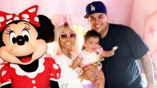 Blac Chyna shared this picture of the family together for US Father's Day last month.