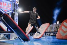 Brodie Pawson competes against his brother Dylan on Australian Ninja Warrior.