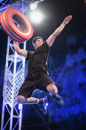 Brodie Pawson faces one of the challenges on Australian Ninja Warrior.
