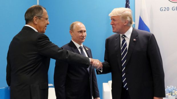 Trump's meeting with Putin and Russian Foreign Minister Sergey Lavrov went for more than 2 hours.