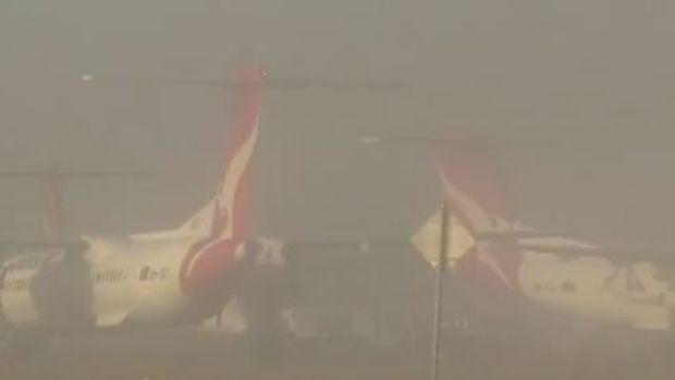 Flight chaos after Brisbane fog forces airport to cancel services