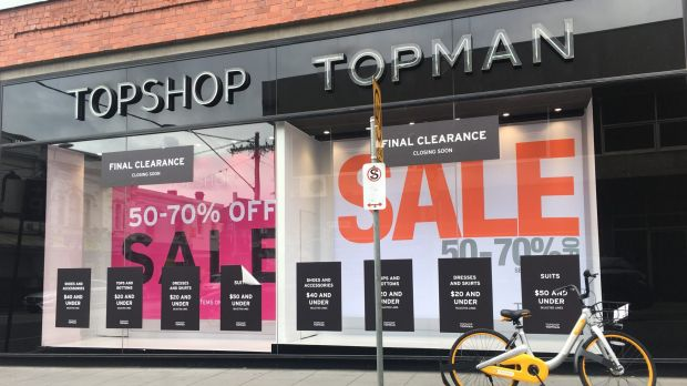 Topshop closes underperforming stores in bid to save Australian operation