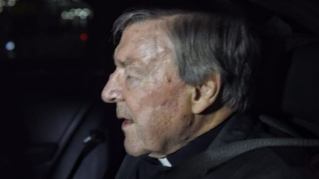 Cardinal George Pell arrived back in Australia on Monday.