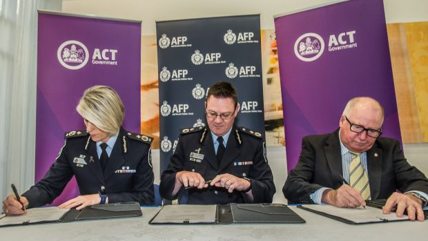 Ministerial direction delivered by Police and emergency services minister Mick Gentleman (right) - and four year ...