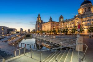 The Liver building next to the Port Authority and the Cunard Building on Pier Head SatApr15Brexit - Britain?s maritime ...