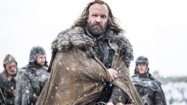 Rory McCann as Sandor Clegane, aka the Hound, saddles up for season seven of Game of Thrones.