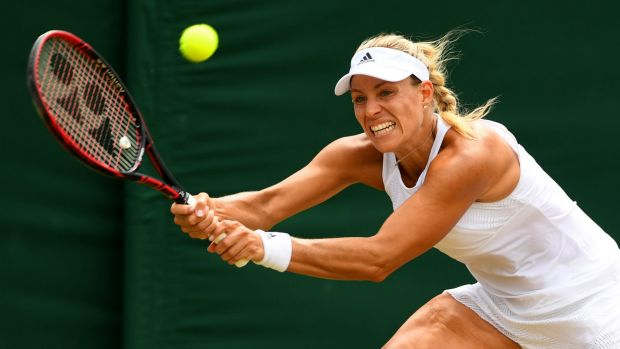 World no.1 Angelique Kerber was knocked out of Wimbledon by Garbine Muguruza.