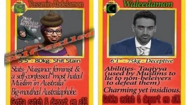 Yassmin Abdel-Magied being targeted in a racist campaign.