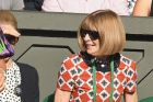 Mirka Federer and Anna Wintour make statements in colourful prints on day six.