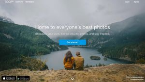 500px, online photo gallery.