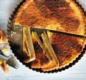 South Australian favourite: Apple and custard tart.