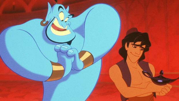 The role of Genie was originated by late comedian, Robin Williams.