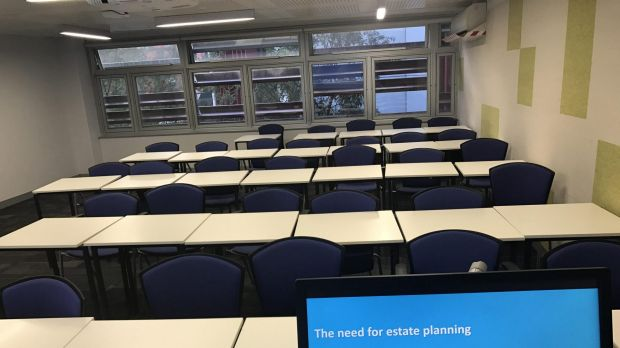 Lecturer Adrian Raftery posted this picture of his classroom.