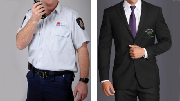 Old and the new: Security guards at RPA, Canterbury, Concord and Balmain and Sydney Dental hospitals do not want to wear ...