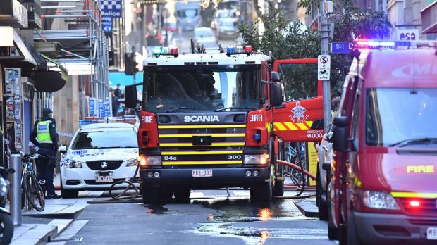 The Melbourne Library in Flinders Lane was evacuated too.