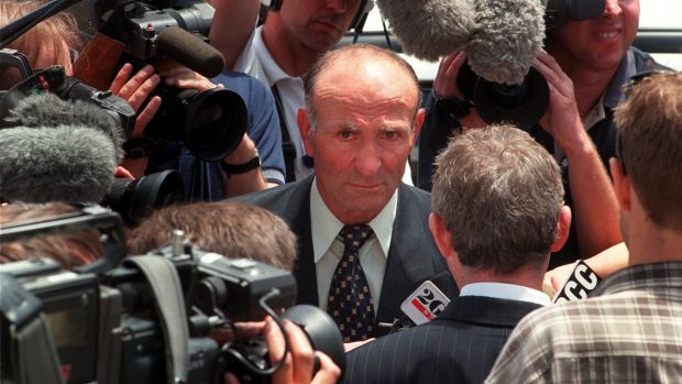Katie Bender's father Mato in 1999 on the last day of the inquest into her death.