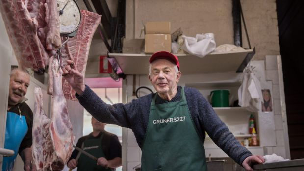 Peter Gruner's retirement spells the end of Gruner's butcher and deli in St Kilda, which his parents founded in 1958.
