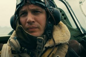 Tom Hardy as Spitfire pilot Farrier in Dunkirk.