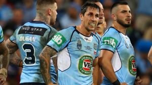 Last chance: This may well be the last time Mitchell Pearce pulls on a New South Wales jersey.