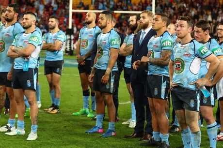 Cursed: The vanquished NSW side has that familiar July look about them.