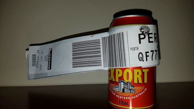 Aussie battler's lone can of beer makes it through baggage claim