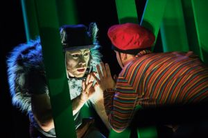 """The beast in me: Mateusz Szczerek and Ivonne Kalter in """"The Wolf and Peter""""."""