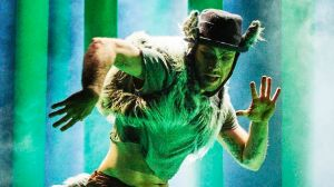 """Mateusz Szczerek gives an athletic performance in """"The Wolf and Peter""""."""