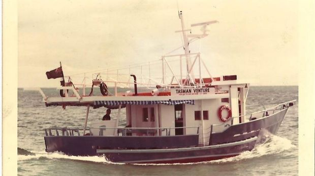 Their first vessel the Tasman Venture, which they bought in 1986.