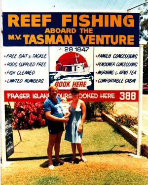 Jill and husband Brian Perry bought the Tasman Venture charter fishing business in 1986, when their daughter was three ...