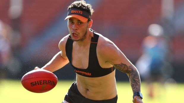 Back in orange: Zac Williams of the Giants