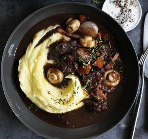 Neil Perry's beef bourguignonne.