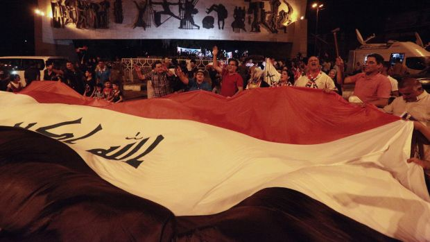 Iraqis celebrate the liberation of Mosul. There are many more battles to be won in Iraq before total victory over ...