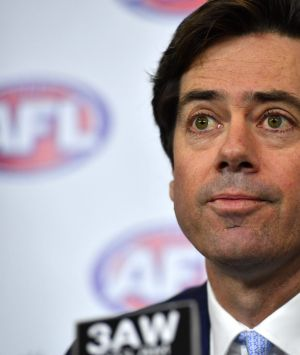 AFL boss Gillon McLachlan expressed  disappointment at the events that led to the departure of two senior executives.