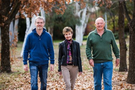 Judd Hoyle, of Giralang, and Curtin couple Jennifer and Tom Wharton, have benefited from Bezzina House in Sydney, a ...