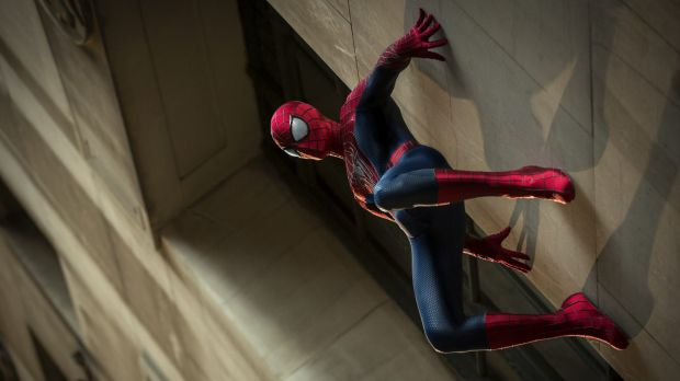 Andrew Garfield in The Amazing Spider-Man 2, a big Hollywood production awarded for its sustainability efforts