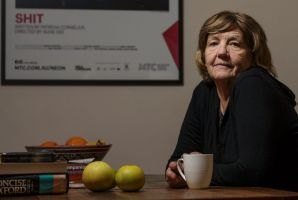 Playwright Patricia Cornelius, in her home in Thornbury, during the lead-up to a production of her play SHIT at the ...