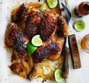Rodney Dunn's char-grilled whole chicken with cumin and lime.