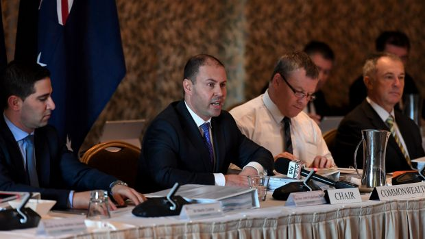 Federal Energy Minister Josh Frydenberg speaks during a COAG Energy Council meeting in Brisbane on Friday.