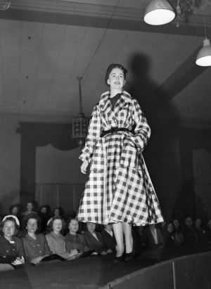 The raised catwalk at this Christian Dior parade at David Jones in July 1948 is one of the inspirations for next month's ...