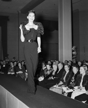 The parade held at David Jones in 1948 was the first time the Christian Dior collection was shown outside of Paris.