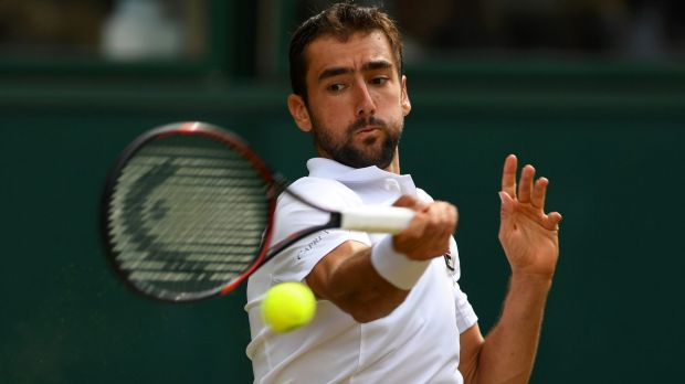 Marin Cilic in action on Friday.