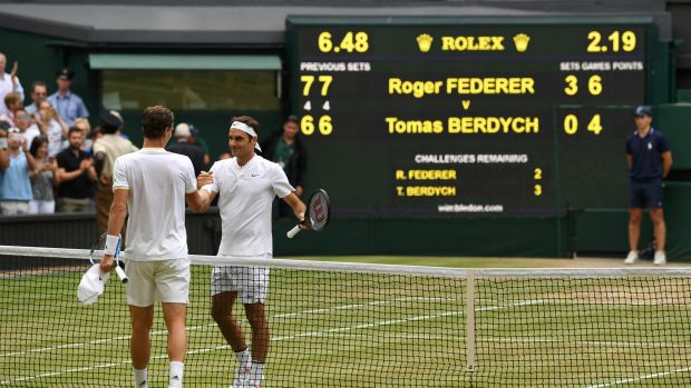Tomas Berdych was no match for Roger Federer on Friday.