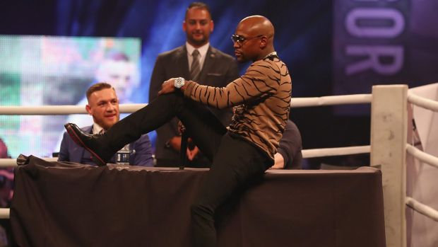 Courting controversy Mayweather has been slammed for using a gay slur about McGregor while Mc Gregor has previously